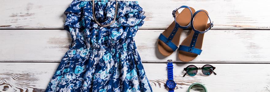 Robe vintage à fleur style bohème